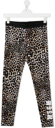 Msgm Kids TEEN leopard-print leggings