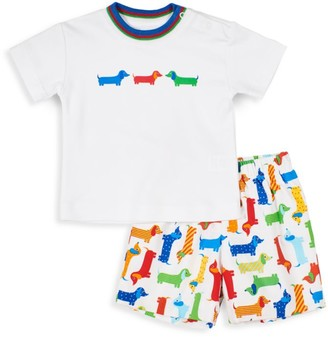 Florence Eiseman Baby's & Little Boy's 2-Piece Paw-Print Shirt & Shorts Set