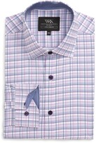 Work Rest Karma Trim Fit Plaid Performance Stretch Dress Shirt