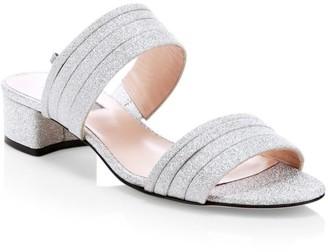 Sarah Jessica Parker Bloom Glitter Mules