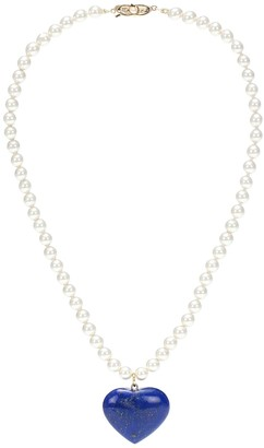 Timeless Pearly Pearl necklace with heart charm