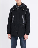 The Kooples Leather-trimmed Cotton Parka