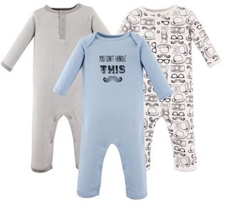 Hudson Baby Boy Coveralls, 3-pack