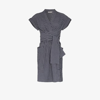 Three Graces Aurora gingham print dress