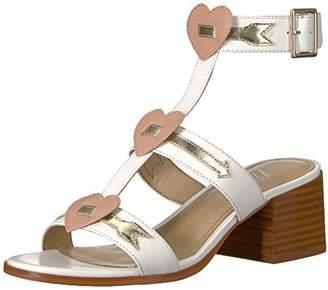 Amazon Brand - The Fix Women's Molli Triple Heart Block Heel Sandal