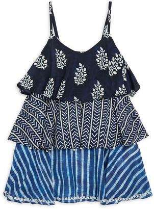 HEMANT AND NANDITA Little Girl's & Girl's Frill Dress
