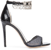 Monique Lhuillier crystal embellished sandals - women - Leather/Watersnake Skin - 35.5