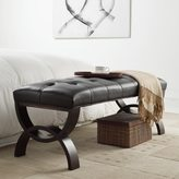Inspire Q Wellington Dark Brown Faux Leather Arched Base Bench by