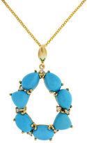 Effy Turquesa 14K Yellow Gold Turquoise and Diamond Pendant