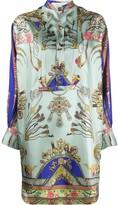 Etro jewellery-print satin shirt dress