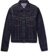 Ralph Lauren Purple Label Trucker Slim-Fit Selvedge Stretch-Denim Jacket
