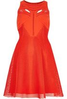 River Island Womens Red mesh cut-out skater dress