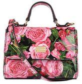 Dolce & Gabbana Patent Leather Rose Shoulder Bag