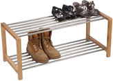 Click Clack Household Essentials Large Bamboo and Steel Shoe Rack