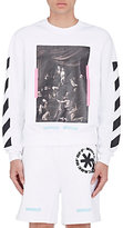 Off-White Men's Mixed-Print Cotton French Terry Sweatshirt