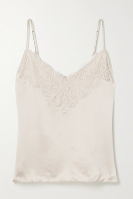 CAMI NYC The Katya Lace-trimmed Silk-charmeuse Camisole - Cream