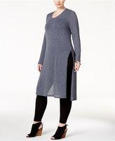 ING Trendy Plus Size Split-Side Tunic Sweater