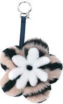 Fendi flower pom pom bag charm