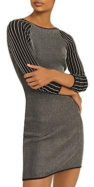 Reiss Marina Metallic Striped Mini Dress
