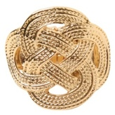 Gold Celtic Knot Stretch Ring