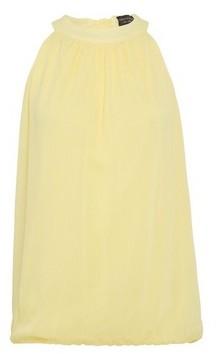 Dorothy Perkins Womens Lemon Bubble Hem Halter Neck Top