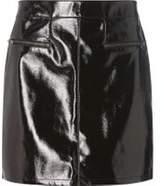 Dorothy Perkins Woblack Vinyl Zip Mini Skirt- Black