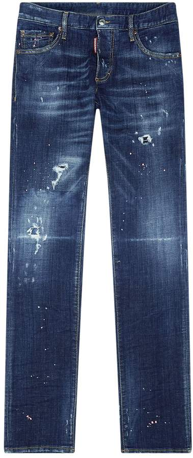 DSQUARED2 Colour Splash Distressed Jeans