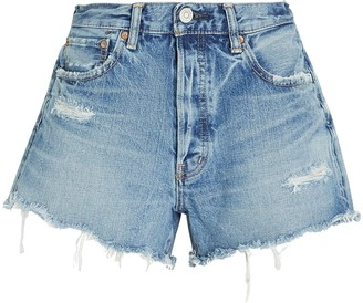 Moussy Chester Distressed Denim Shorts