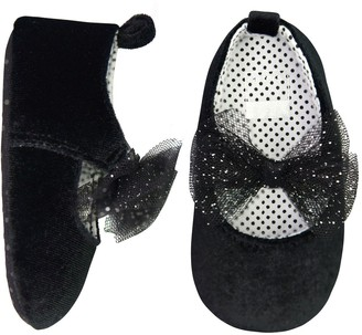 Carter's Baby Girl Glitter Bow Mary Jane Crib Shoes