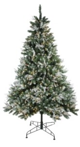 Northlight 6.5' Pre-Lit Frosted Sierra Fir Artificial Christmas Tree - Warm White Led Lights