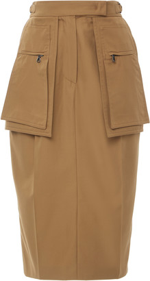 Max Mara Bosso Cotton-Gabardine Knee-Length Skirt