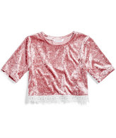 Nowadays Megan & Liz Tween Crushed Velvet Crop Top, Big Girls (7-16) & Juniors (1-5)