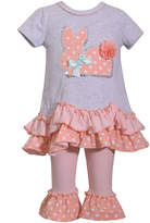 Bonnie Jean 2-pc Short Sleeve Bunny Legging Set-Baby Girls