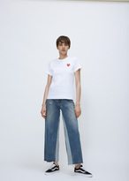 Comme des Garcons white play tshirt