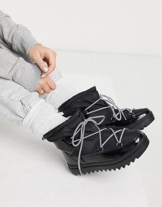 Glamorous short snow boots in black