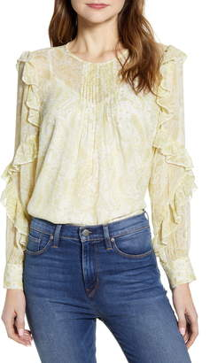 Lucky Brand Georgette Ruffle Blouse