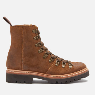 Grenson Women's Nanette Suede Hiking Style Boots - Snuff