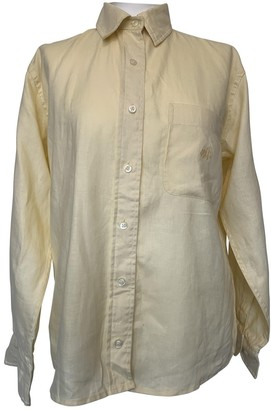 Lauren Ralph Lauren Yellow Linen Top for Women Vintage