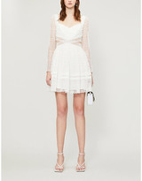 Self-Portrait Self Portrait Frilled-trim woven-lace mini dress