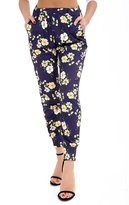 MIXLOT Women's Floral Print Trousers Ladies Full Length Ali Baba Cuffed Pants 4-22