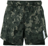 Satisfy Distance camouflage running shorts