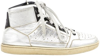 Saint Laurent Silver Leather Trainers