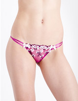 L'Agent by Agent Provocateur Kaity mesh tanga briefs