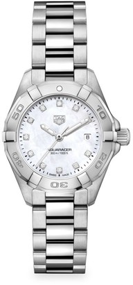 Tag Heuer Aquaracer 27MM Stainless Steel, Diamond & Mother-of-Pearl Quartz Bracelet Watch