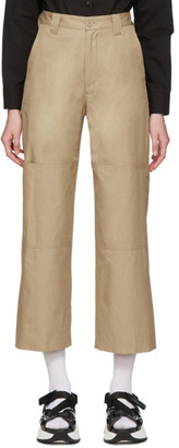 MM6 MAISON MARGIELA Beige Double Knee Trousers