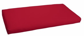 "Red Barrel Studio Crimson Indoor/Outdoor Bench Cushion Size: 3"" H x 60"" W x 19"" D"