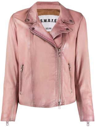 S.W.O.R.D 6.6.44 Impact leather jacket