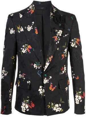 Amiri Floral Embroidered Printed Blazer