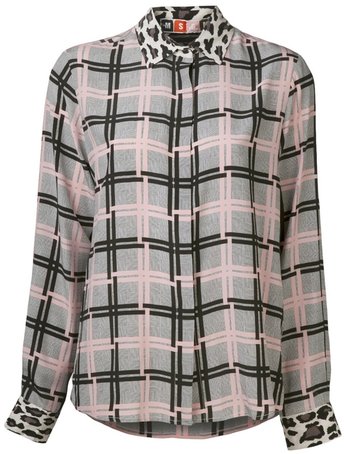 MSGM plaid shirt
