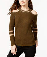 INC International Concepts I.N.C. Metallic Cold-Shoulder Sweater, Created for Macy's